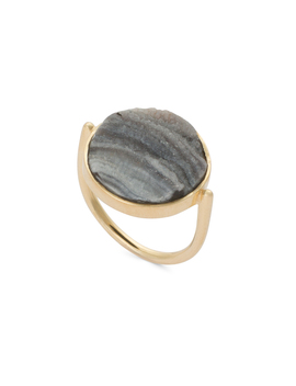 Tallulah Druzy Stone Gold Plated Ring by Olivar Bonas