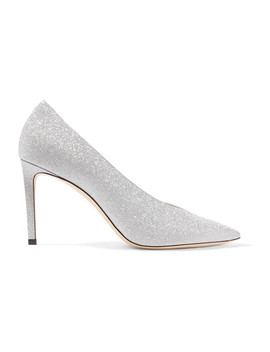 Sophia 85 Glittered Leather Pumps by Jimmy Choo