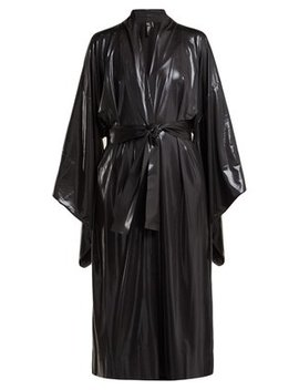 Belted Lamé Robe by Norma Kamali
