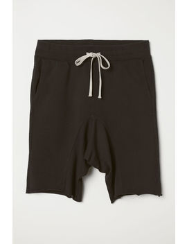 low-crotch-sweatshirt-shorts by h&m
