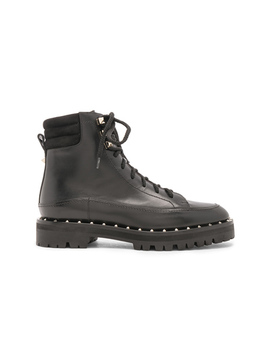 Leather Soul Rockstud Hiking Boots by Valentino