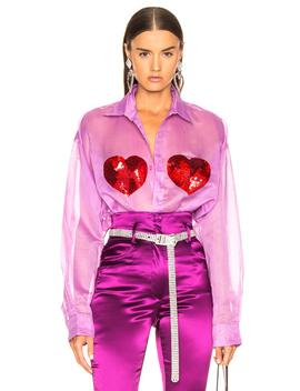 Classic Sequin Heart Shirt by Ashish