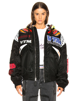 Oversized Racing Bomber Jacket by Vetements