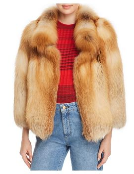Short Fox Fur Coat   100 Percents Exclusive by Maximilian Furs