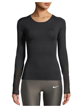 Dri Fit Long Sleeve Cross Back Training Top by Neiman Marcus