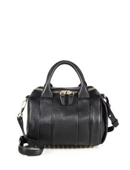Rockie Leather Top Handle Bag by Alexander Wang