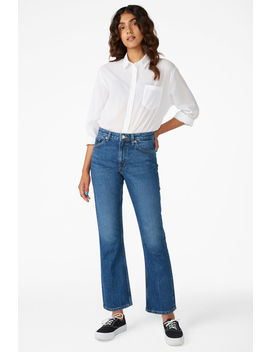 Zoey Mid Blue Jeans by Monki