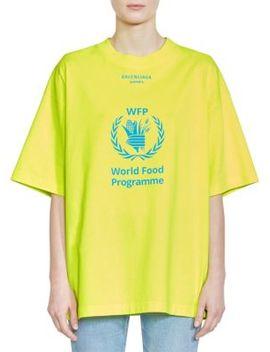 X Wfp Logo T Shirt by Balenciaga
