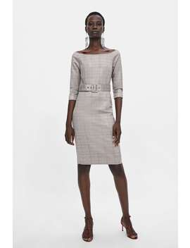 Plaid Sheath Dress  New Inwoman by Zara