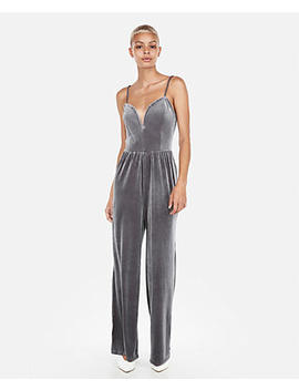 Velvet V Wire Cami Jumpsuit by Express