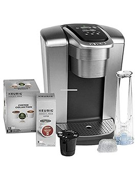 Keurig Fil K Elite C Single Serve Coffee Maker (Brushed Silver) With 15, Water Filter, And My K Cup, 2 by Keurig
