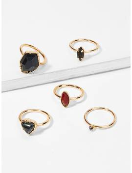 Contrast Geometric Ring Set by Sheinside
