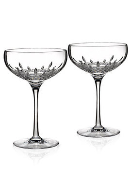 Stemware, Lismore Essence Champagne Saucers, Set Of 2 by Waterford
