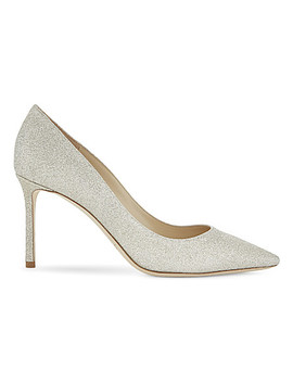 Romy 85 Dusty Glitter Courts by Jimmy Choo