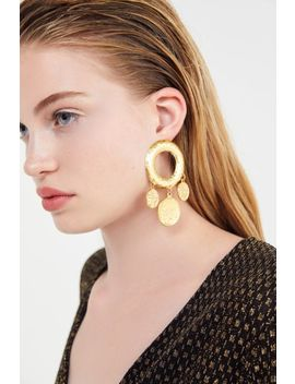 Mythology Coin Statement Earring by Urban Outfitters