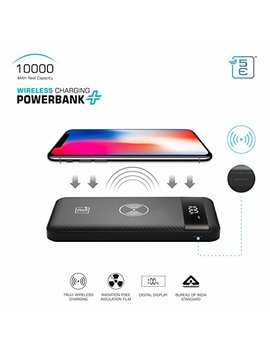 5 E Abs Wireless Charging Powerbank + | 10000 Mah | Bis Approved Power Bank | 3 Input And Dual Output (Midnight Black, 99099129) by 5 E