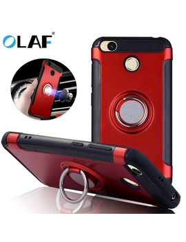Magnetic Suction Phone Case For Xiaomi Redmi 4 X Mi4x 4 A 3 S Luxury Ring Holder Cases For Redmi Note 4 X Note 3 Cover Accessories  by Olaf