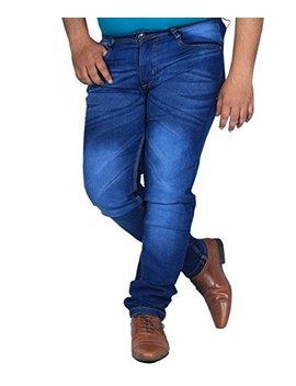 L,Zard Fashionable Slim Fit Blue Stretchable Jeans For Men's Stylish Jeans For Blue Jeans For Men,Men's Blue Jeans by L,Zard