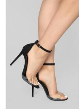 Fear Me Not Heel   Black by Fashion Nova