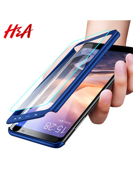H&A H&A Luxury 360 Degree Full Cover Phone Case For Xiaomi Redmi Note 5 5 A Screen Protector Cover 4 X 4 A Note 5 Plus Case Glass by H&A