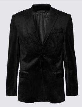 Black Regular Fit Jacket by Marks & Spencer