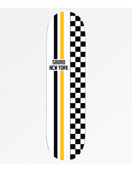 "5 Boro Race Stripes 8.0"" Skateboard Deck by 5 Boro"