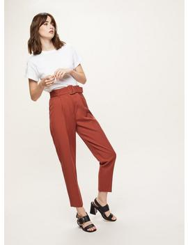 Belted Paperbag Trousers by Miss Selfridge
