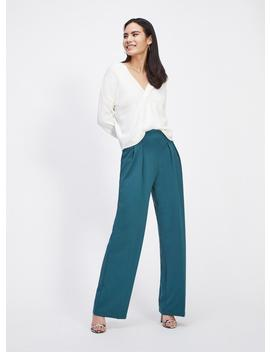 Teal Button Tab Trousers by Miss Selfridge