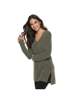 Women's Apt. 9® Chenille Vented Tunic by Apt. 9