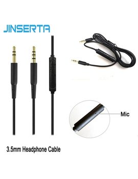 Jinserta 3.5mm Earphone Audio Cable Replacement Headphone Wire With Mic For I Phone I Pad Android Computer by Jinserta