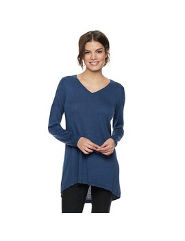 Women's Apt. 9® High Low V Neck Tunic Sweater by Apt. 9