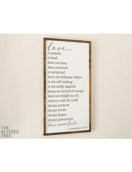 Love Is Patient Love Is Kind Framed Wood Sign | 1 Corinthians 13 | Scripture Wall Art Christian Wooden Signs Farmhouse Home Decor Gifts by Etsy
