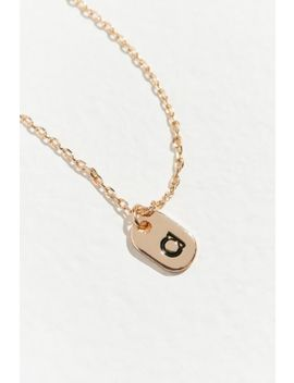 Initial Mini Tag Necklace by Urban Outfitters
