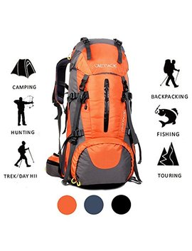 Onepack 70 L Internal Frame Hiking Backpack With Rainfly (65+5 L) Backpacking Bag With Waterproof Rain Cover For Mountaineering Camping Outdoor Travel by Onepack