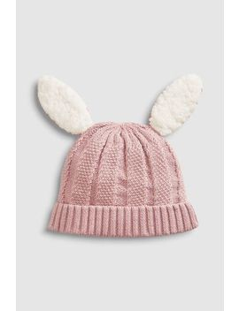Lilac Knitted Bunny Hat (0mths 2yrs) by Next