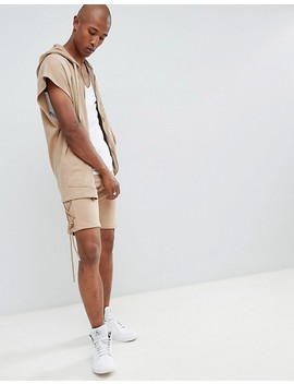 Sixth June Oversized Sleeveless Zip Thru Hoodie by Sixth June