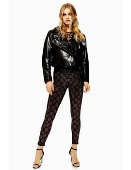 Snake Studded Jamie Jeans by Topshop