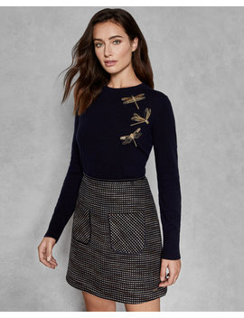 Sugarplum Embellished Dragonfly Jumper by Ted Baker