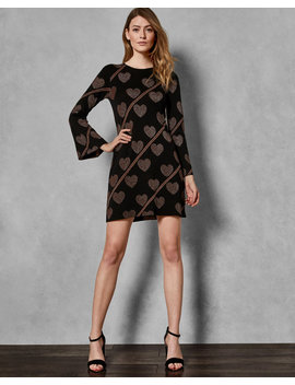 Joyous Fluted Sleeve Knit Dress by Ted Baker