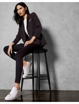 Striped Skinny Jeans by Ted Baker