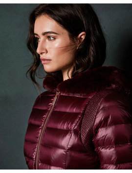 Long Down Coat With Hood by Ted Baker