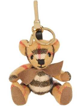 Thomas Bear Charm In Vintage Check Cashmere by Burberry