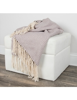 Gray Woven Fringe Throw Blanket by Kirkland's