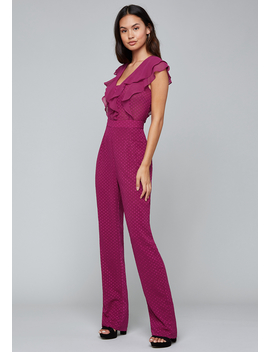 Soft Ruffle Jumpsuit by Bebe