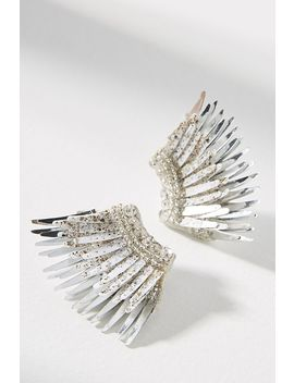 Mini Luxe Madeline Feather Post Earrings by Mignonne Gavigan