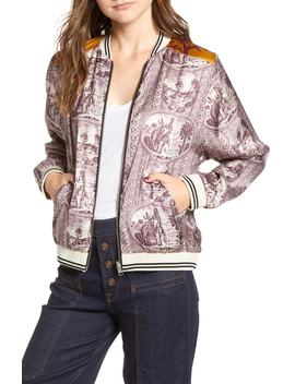Reversible Satin Bomber Jacket by Scotch & Soda