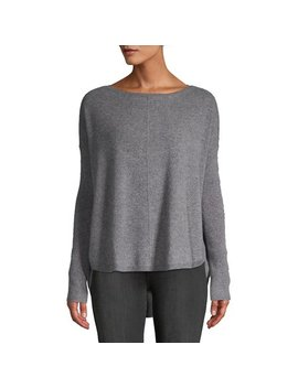 Boatneck Boxy Cashmere Sweater by Lord & Taylor
