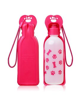 Anpetbest Dog Travel Water Bottle, Portable Foldable Water Dispenser Drink Bottle For Daily Walks, Hiking, Camping, Beach, Bpa Free Plastic 11 Fl Oz by Anpetbest