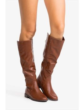 Love Down Below Riding Boot by A'gaci