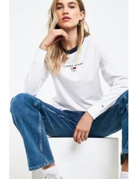 Tommy Jeans White Long Sleeve Ringer T Shirt by Tommy Jeans